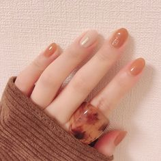 Pin by mashroom on nails Korean Nail Art, Korean Nails, Classy Nail Designs, Nail Art Designs, Cute Nails, Pretty Nails, Asian Nails, Gel Nails, Nail Polish