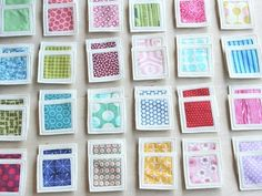 memory patchwork game - purl bee. Great use for all those left over fabric scraps. by nancy