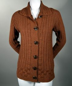 RP Vintage1920's hand knit cardigan sweater.