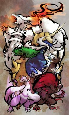 Pokemon okami style! I say its pretty cool