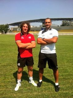 Zebre Rugby - Mauro Bergamasco and Marco Bortolami in their new ZAR-X Sports polos