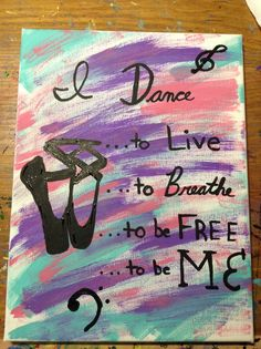 Just made this Dance Canvas art for my instructor! Super easy :)