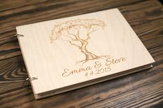 Wedding Guest book Wood Guestbook Guest Book от woodlack на Etsy