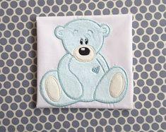 Applique Machine Embroidery Design Teddy Bear