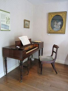 Jane Austen's House | Flickr - Photo Sharing! I was given the opportunity to play this piano. I'll never forget.
