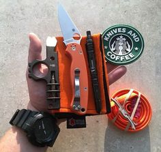 """COMMUNITY FEATURE .  Always love seeing peeps use our Nomex Hanks as backdrops for their hand dumps! Nice one @edccoffeeco  . . Keep tagging #RecycledFirefighter and #RecycledFirefighterEDC for a chance to be reposted in our """"community features""""  . . . . #everydaycarry #edcgear #pocketdump #handdump #knifecommunity #edcommunity #tacticalgear #usamade #americanmade #usa #repurposed #tacticallife #firefighter #tacticallife #2ndamendment #2a #knives #adventure #getoutdoors #knifelife #knives…"""