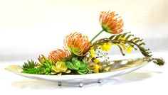Faux Succulent Centerpiece Artificial by JessWrightDesigns on Etsy