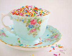 Tea and sprinkles! (eye candy)  ƸӜƷ * ✿ re-Pinned by Colette's Cottage✿