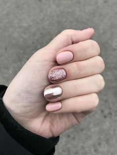 nails - perfect winter nail designs to make you feel warm 4 - Cute Summer Nail Designs, Winter Nail Designs, Short Nail Designs, Simple Nail Designs, Sns Nail Designs, Stylish Nails, Trendy Nails, Cute Nails, Cute Simple Nails