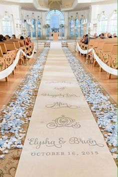 The wedding aisle I would of course change this to beauty and the beast instead of Cinderella