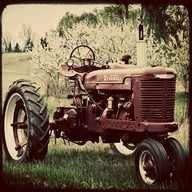 I learned to drive an old tractor like this when I was eight (every body counts on a farm!)
