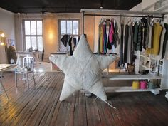 Wool And The Gang.  ---> love the open yet cozy feel it has and those old floors.