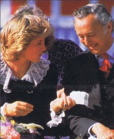 The Bute Highland Games: Diana is pictured with the 6 Marquess of Bute, John Crichton-Stuart