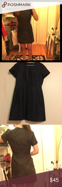 Black party dress Black mini dress with faint silver detail perfect a line cut. Great for a dinner date or for a wedding Madewell Dresses Mini