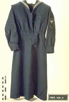 Wool serge middy dress influenced by WWI uniforms. Retailed by J. M. Gidding & Co., Duluth, Minneosta, circa 1918.