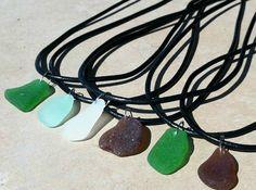 Sea Glass Necklace Men Necklace Hawaiian Jewelry by natashaaloha, $19.00