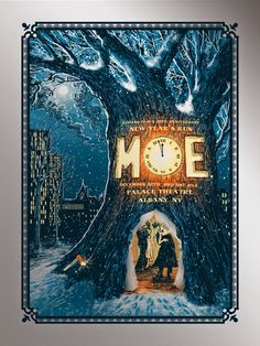 MOE Albany Poster New Years Eve Foil by Zeb Love