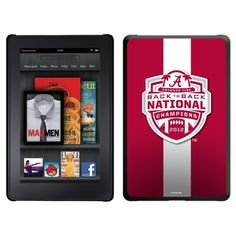 Alabama - BCS Champs 2012 Stripe 2 design on a Black Thinshield Case for Amazon Kindle Fire by Coveroo. $39.95. This hard shell polycarbonate case offers a slim fit form factor, while covering the back and sides of your Kindle Fire