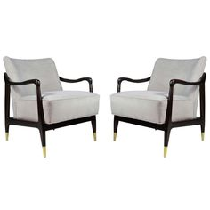 Pair of Sculptural Italian Lounge Chairs | From a unique collection of antique and modern chairs at http://www.1stdibs.com/furniture/seating/chairs/