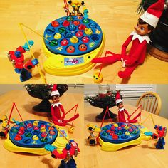 Elf on the Shelf goes fishing with Transformers!
