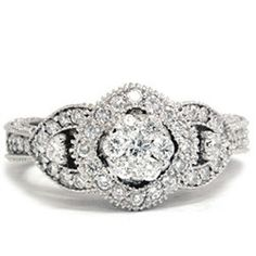 Vintage Diamond Engagement Hand Engraved Antique Art by Pompeii3, $549.00  -- Even though I'm really partial to rose gold, this ring is relatively cheap.