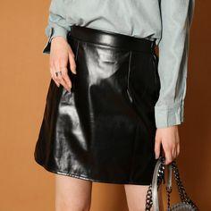 Leather Skirt, Skirts, Shopping, Women, Fashion, Moda, Leather Skirts, Fashion Styles, Skirt