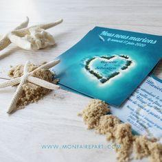 Faire part de mariage exotique pour annoncer votre union à vos proches, ref N31114