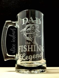 No More Fish Funny Novelty Christmas Birthday Frosted Pint Glass Beer Stein