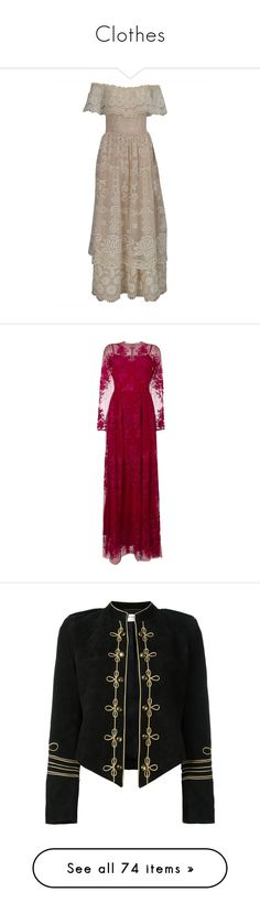 """Clothes"" by this-carebear on Polyvore featuring dresses, wedding dresses, brown, vintage bridal gowns, gowns, lace evening gowns, purple dress, purple evening dresses, purple evening gowns and zuhair murad gowns"