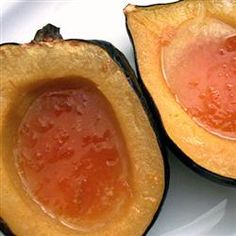 Baked Acorn Squash with Apricot Preserves