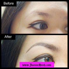 Hairstroke Eyebrow Embroidery by Joanne Hinh. Brow embroidery. Brow tattoo. Permanent makeup. Cosmetic tattoo. Eyebrow tattoo. Permanent Makeup Artist.   www.joannehinh.com email: jo@joannehinh.com