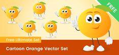 Download - Vector Characters Vector Characters, Free Vector Clipart, A Cartoon, Clip Art, Orange, Cute, Kawaii, Pictures
