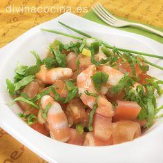 Salpicón de langostinos » Divina CocinaRecetas fáciles, cocina andaluza y del mundo. » Divina Cocina