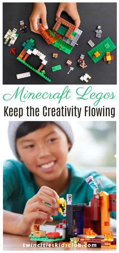 Twin Cities Kids Club Blogs: Minecraft Legos: Keep the Creativity Flowing - Let's say your daughter, son, niece, or nephew really loves Minecraft, the computer game. (And secretly you're a little grateful that she's playing it right now. Minecraft is giving you a needed summer break.) Why not purchase some Minecraft Legos for her? | Indoor Games | Indoor Fun | Kids Fun | Kids Fun Time | Parenting Indoor Games, Indoor Activities, Infant Activities, Kids Fun, Cool Kids, Activities For 2 Year Olds, Children Toys, Twin Cities, 4 Year Olds