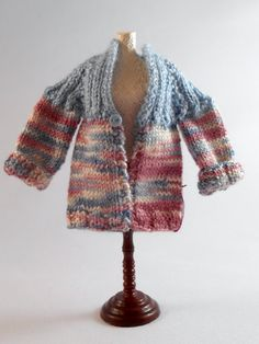 Hand Knitted Sweater 1 inch Scale Dollhouse by TinyThreadsbyJudi