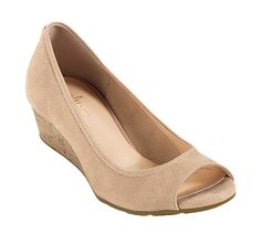 I could do these... (not a heel-wearer) Cole Haan Air Tali Open Toe Wedge 40 - www.colehaan.com