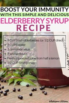 I've been making elderberry syrup for years now, each year tweaking the recipe a bit. THIS is my BEST elderberry syrup recipe yet! This elderberry syrup is delicious, easy to make, done in and you can use both dried and fresh elderberries when makin Herbal Remedies, Health Remedies, Natural Remedies, Flu Remedies, Health And Beauty, Health And Wellness, Health Tips, Wellness Mama, Elderberry Syrup Uses