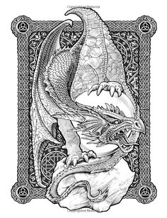 Colour My Sketchbook DRAGONS: Amazon.ca: Bennett Klein: Books Adult Coloring Book Pages, Coloring Pages To Print, Colouring Pages, Coloring Books, Fantasy Dragon, Dragon Art, Dragon Coloring Page, Dragons, Dragon Pictures