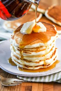 Homemade pancakes are quick and easy following this simple recipe. With add-ins like bananas, blueberries, or even pumpkin, these fluffy pancakes are sure to be a hit! #spendwithpennies #pancakes #pancakerecipe #homemade #fromscratch #breakfast #easypancakerecipe Homemade Pancakes Fluffy, Fluffy Pancakes, How To Cook Pancakes, Tasty Pancakes, Best Pancake Recipe, Pancake Recipes, Pancake Toppings, Pancakes From Scratch, Appetizers