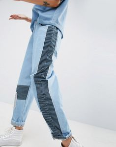 Buy Navy Asos white Slim jeans for woman at best price. Compare Jeans prices from online stores like Asos - Wossel Global Diy Jeans, Jeans Denim, Asos, Black Hoodie Outfit, Jean Diy, Skater Girl Outfits, Diy Vetement, Mode Jeans, Patchwork Jeans