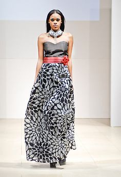 Africa Fashion Week New York 2012    Designer: Selections from Attolle Collection (Texas based, Nigerian designer)