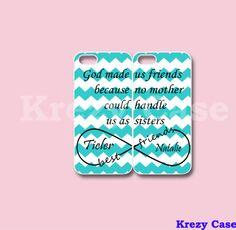 iPhone 6 Case Infinity Best Friends iPhone 5 case by KrezyCase Best Friend Cases, Bff Cases, Friends Phone Case, Cute Cases, Cute Phone Cases, Diy Phone Case, Iphone 5c Cases, Iphone 5s, Techno