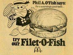 McDonald's Filet-O-Fish with Phil A. O'Fish #ad #advertisement #print #McDs #McDonalds