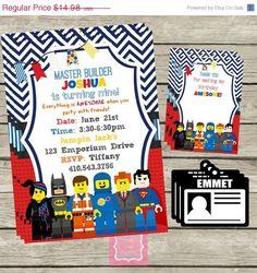 Verkauf personalisiert die Lego Film von PartyPoshPrintables, $11.24