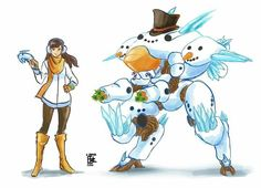 Dva Snowman skin concept