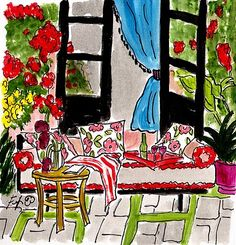 Fifi Flowers Painting du Jour Gallery: room decor