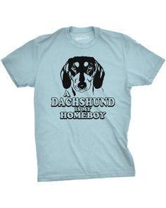 Childrens I Love Dachshund Cute Short Sleeve T-Shirt Size 2-6