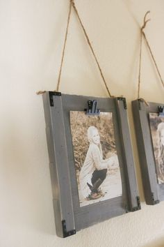 Super easy and cute project to display photos in your home! This a great beginner project that requires only a couple tools!