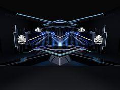 """""""art deco concept"""" for awarding stage design Tv Set Design, Stage Set Design, Church Stage Design, Booth Design, Event Design, Concert Stage Design, Nightclub Design, Catalog Design, Stage Decorations"""