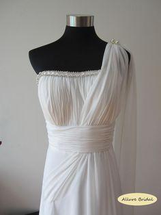 Athena Grecian Style robe de mariée en mousseline par AllureBridal, $260.00